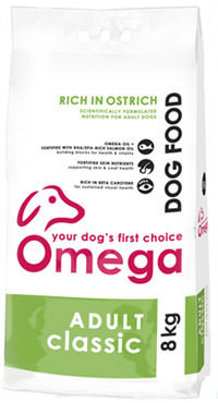 Superior pet food | Omega Adult Classic Ostrich 8kg bag