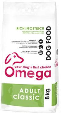 Superior pet food | Omega Adult Classic Ostrich 8kg bag
