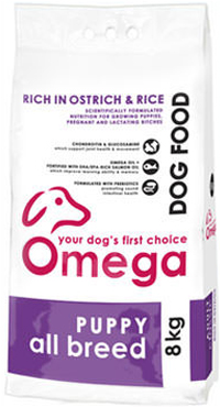 Superior pet food | Omega Puppy all breed 8kg bag