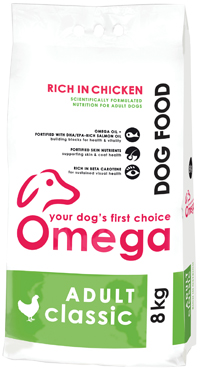 Superior pet food | Omega Adult Classic Chicken 8kg bag