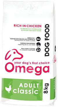 Superior pet food | Omega Adult Classic Chicken 8kg bag